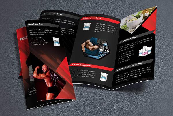 fitness tri fold brochure