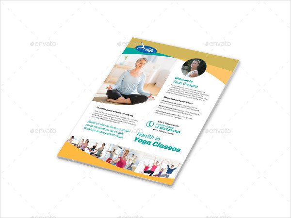 Fitness Yoga Flyer in PSD