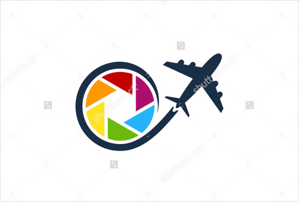 -Flat Travel Photography Logo