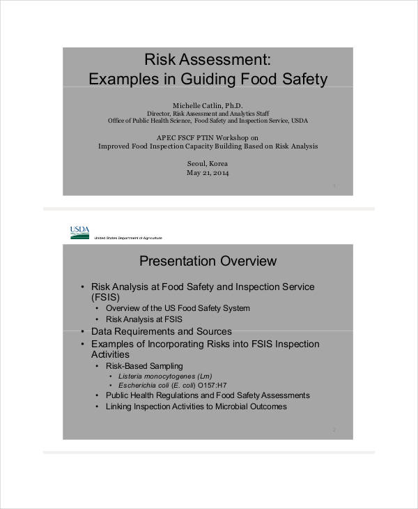food safety risk assessment