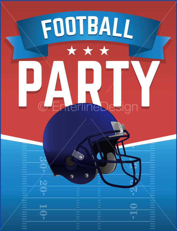 football theme party flyer