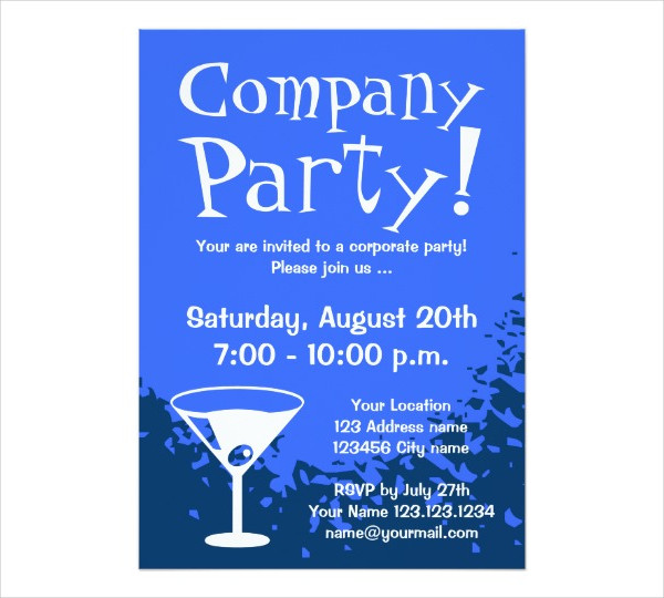 formal company party invitation