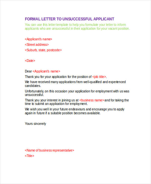 formal employment application letter1