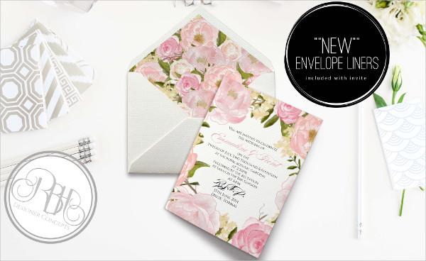 formal wedding invitation envelope