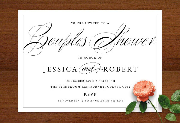 formal wedding shower invitation
