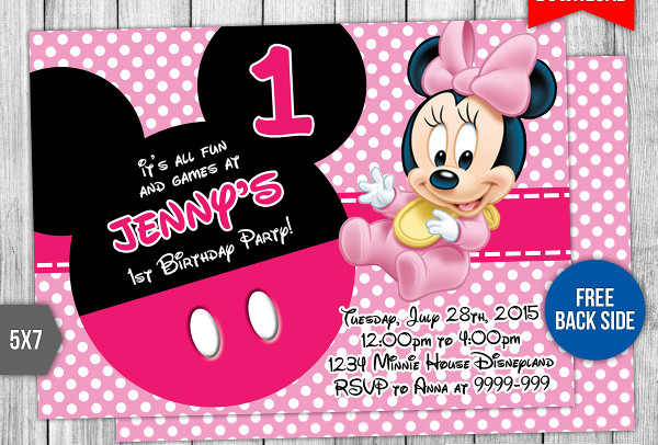 free 1st birthday invitation