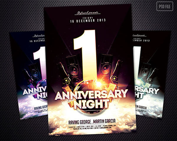 free anniversary party flyer
