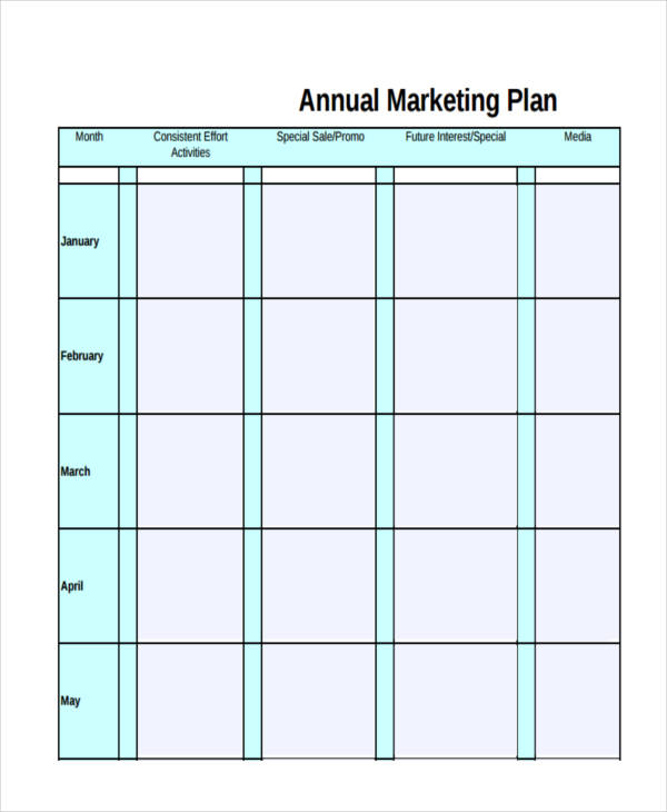 free annual marketing plan