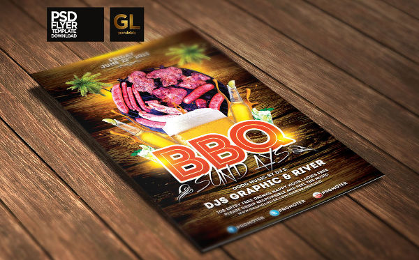 free bbq invitation flyer