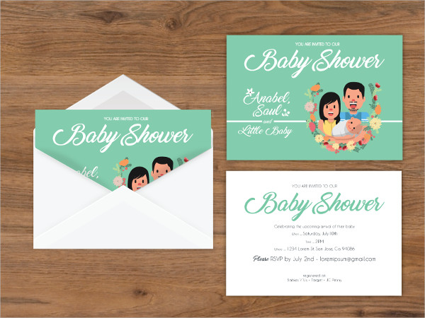 free baby shower invitation envelope