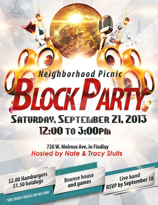 Free Block Party Flyer  Flyer Examples