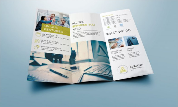 free business tri fold brochure