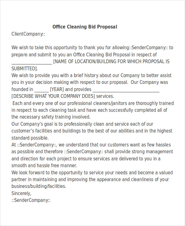 Bid Proposal Letter Sample Rfp Response Cover Letter  Resume Cv