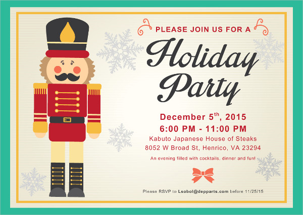 free corporate holiday invitation