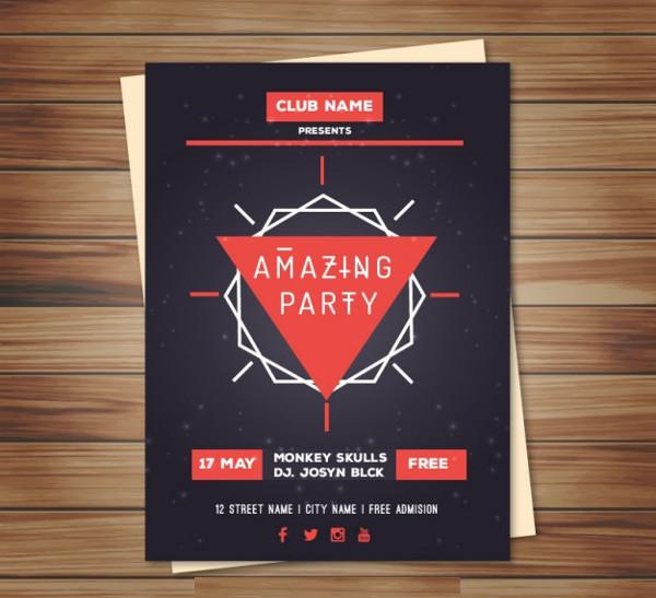 free dj event poster