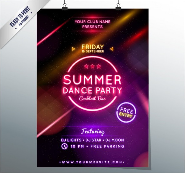 -Free Dance Event Poster