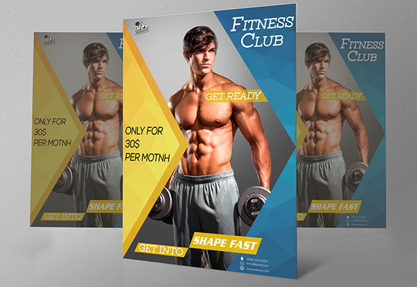 free fitness advertising poster