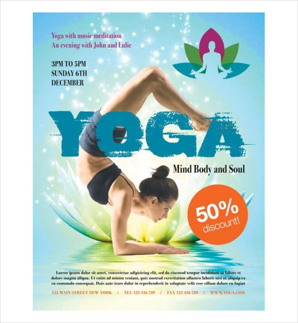 Free Fitness Yoga Flyer