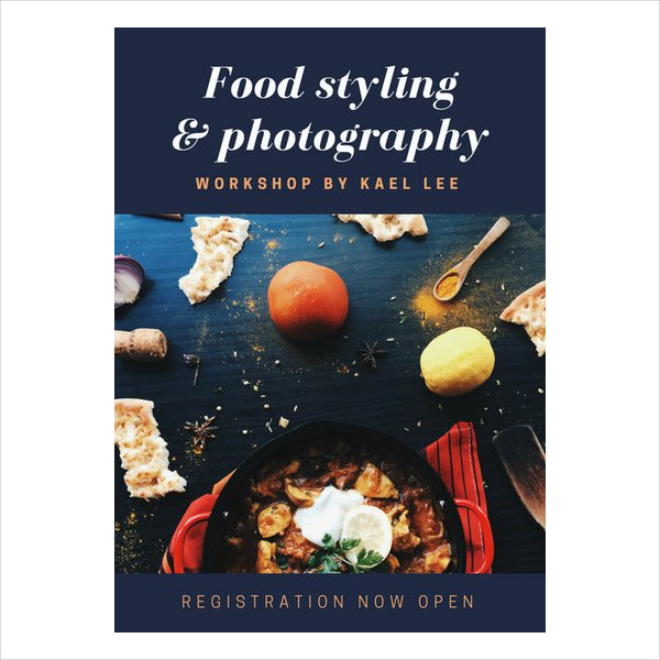 free food photography flyer