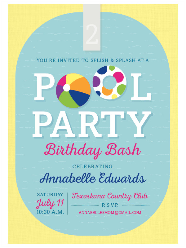 free formal party invitation example