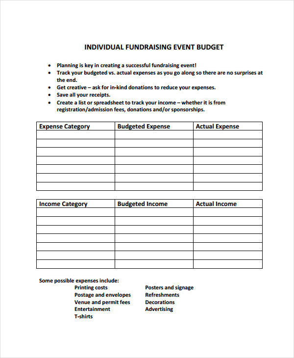 10 event budget examples samples for Event cost analysis template