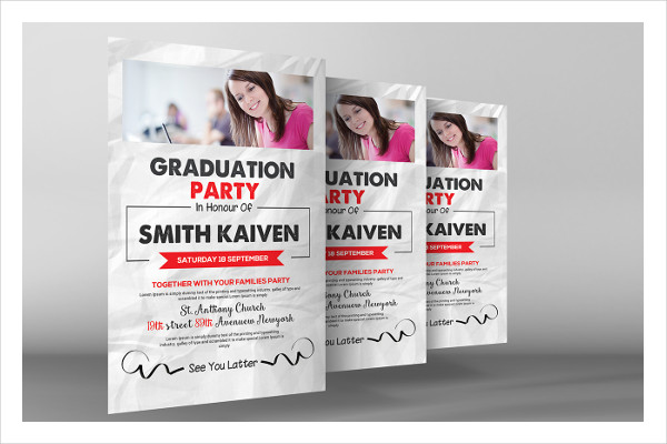 free graduation invitation flyer