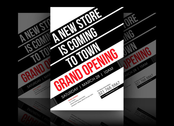 -Free Grand Opening Flyer