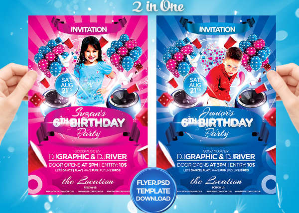 free kids birthday invitation