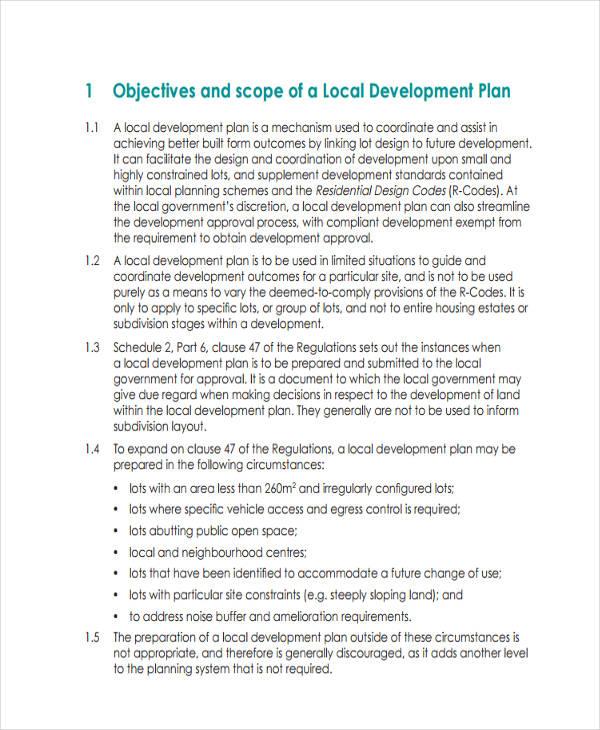 free local development plan