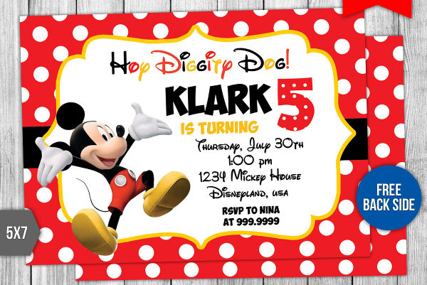 free mickey mouse birthday card