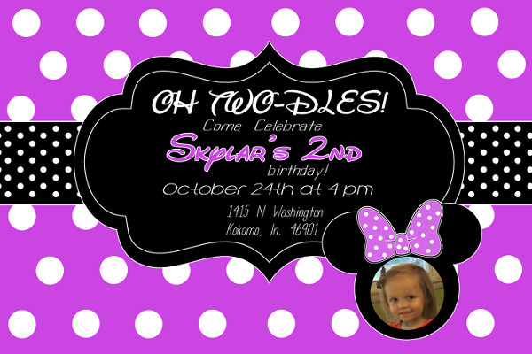 free minnie mouse birthday invitation