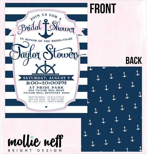 Free Nautical Bridal Shower Invitation