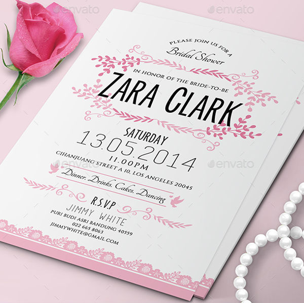 free personalized bridal shower invitation