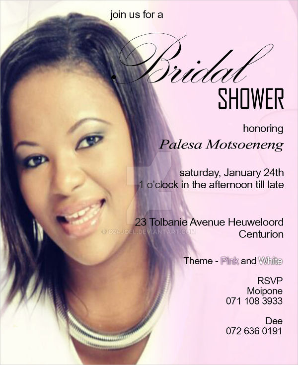 free photo bridal shower invitation