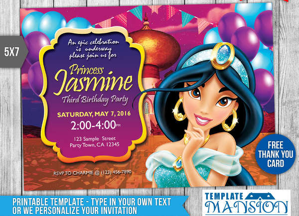 free princess birthday invitation