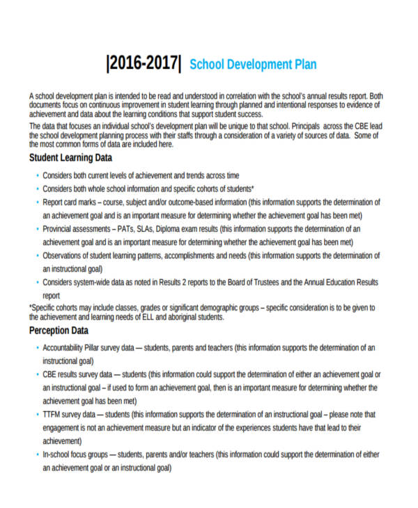 free school development plan