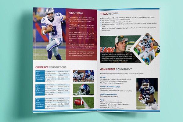 free sports business brochure