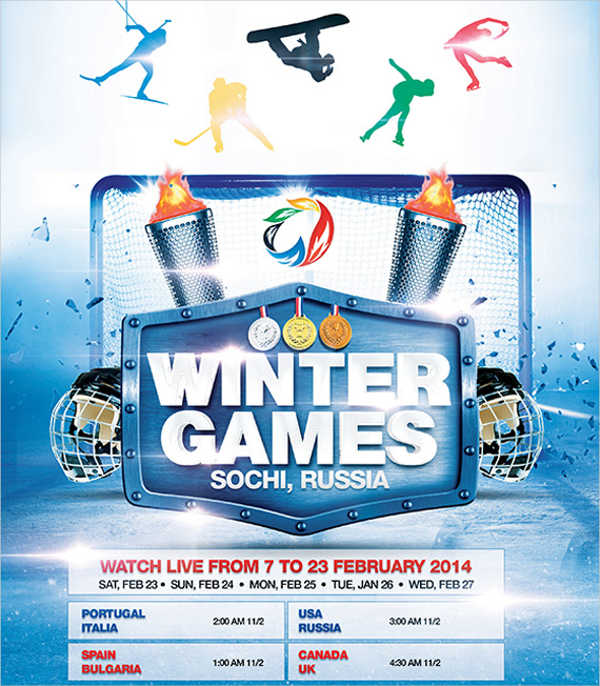 -Free Sports Event Poster