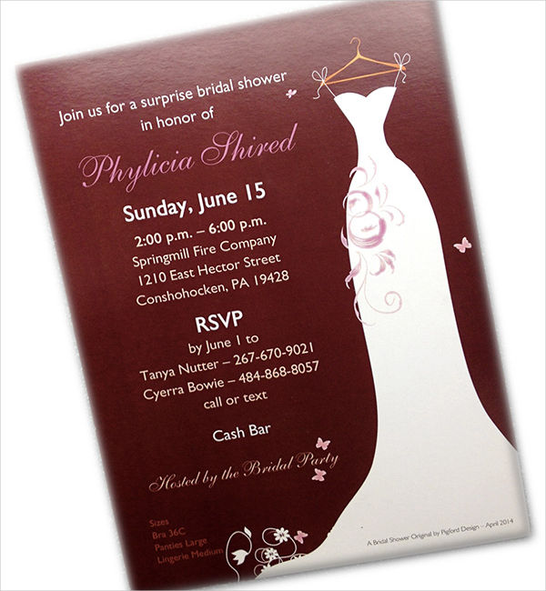free surprise bridal shower invitation