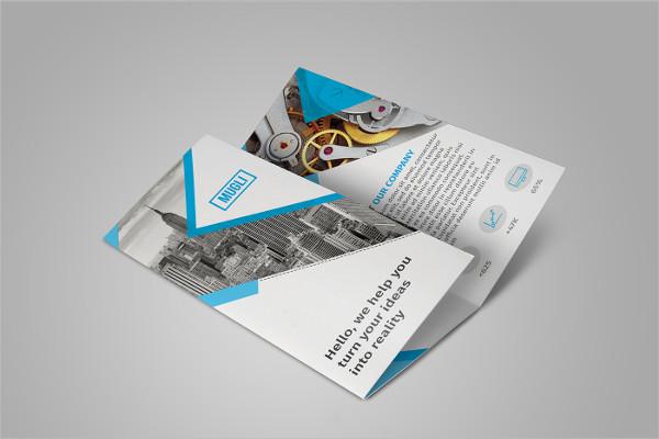 free tri fold psd brochure