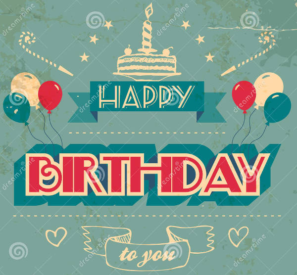 free vintage birthday card