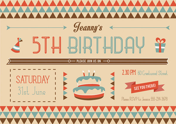 free vintage birthday invitation