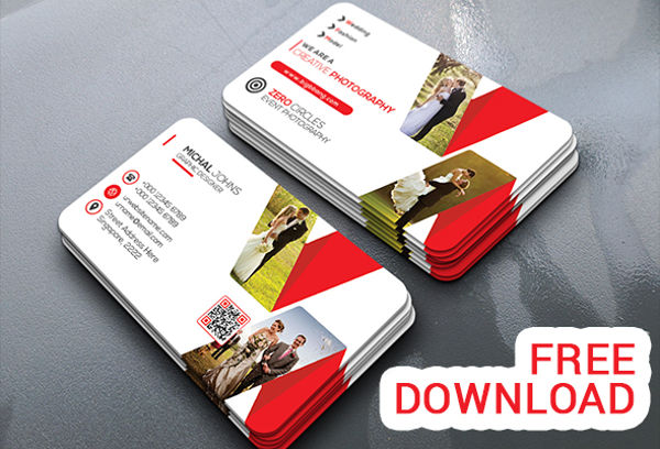 free wedding business card