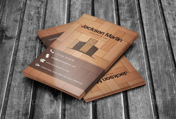 -Free Wooden Business Card