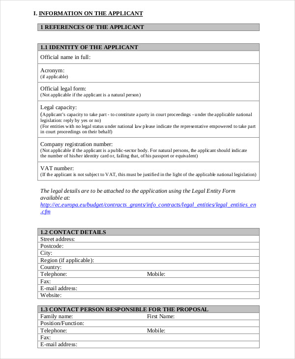 Grant Application Travel Grant Application Template Grant