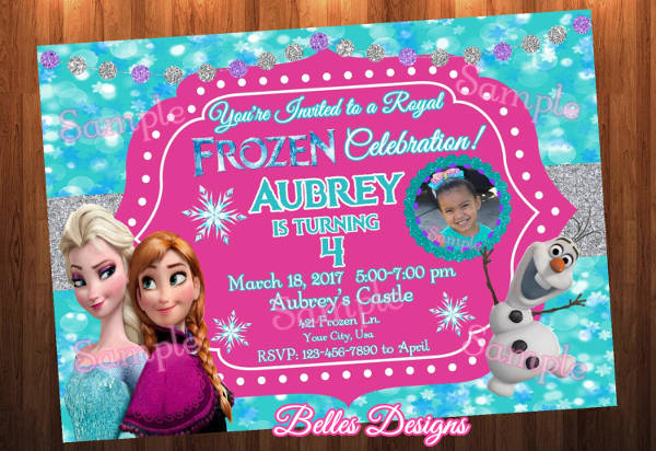 frozen birthday invitation for children