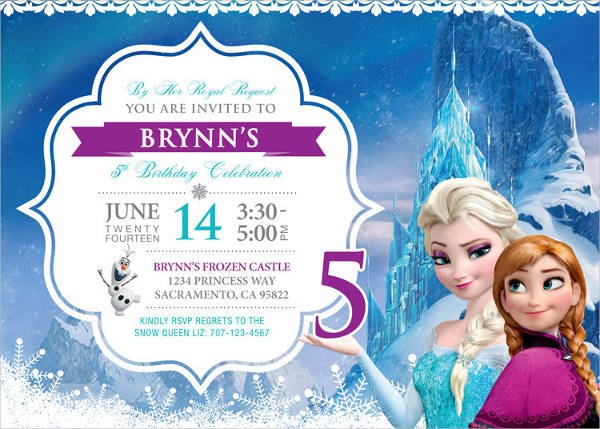 frozen personalized birthday invitation