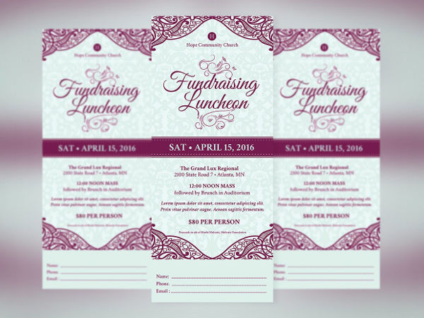 fundraising luncheon flyer