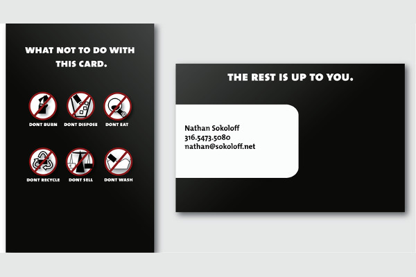 -Funny Corporate Business Card