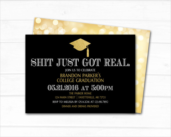 funny high school graduation invitation